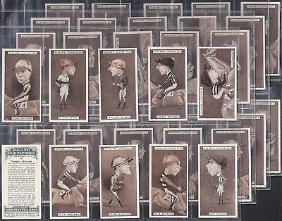 Players-Full Set- Racing Caricatures (40 Cards) Horse Racing - Exc
