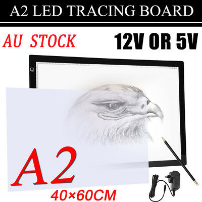 Portable A2 LED Tracing Light Box Stencil Drawing Board Pattern Art Design Pad