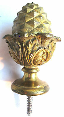 Old Newel Post Finial 1900, gilt bronze, Pinecone and Acanthus leaves