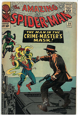Amazing Spider-Man # 26 - GOOD- 1st CRIME MASTER APPEARANCE