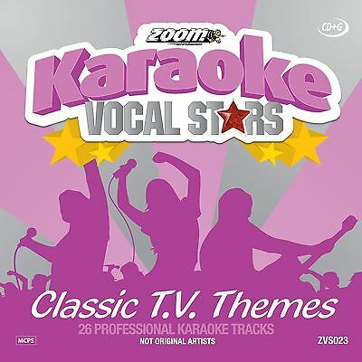 Zoom Karaoke Vocal Stars Classic TV Themes CD + G New Sealed