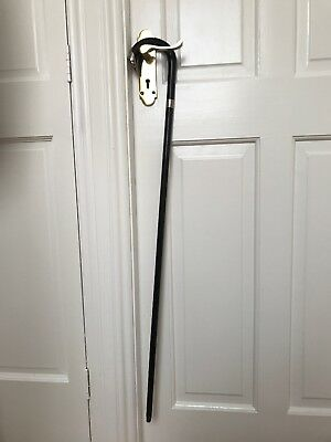 A British Silver Gentlemens Walking Cane 1864 Era