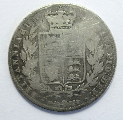 Great Britain Half Crown Silver 1850 in VG to F Condition #Er