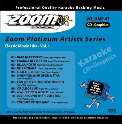 Zoom Karaoke Platinum Artists Series 47 Classic Movie Hits Vol 1 CD+G New Sealed