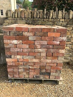 550 Reclaimed Mixed Red Imperial Bricks. Cleaned On Pallet Ready To Go