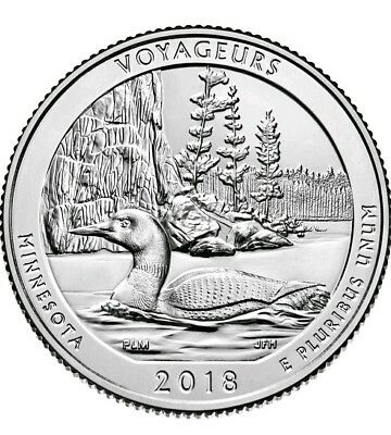 2018-P Voyageurs National Park (Minnesota) Uncirculated Quarter