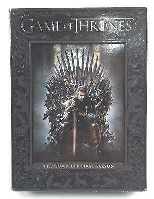 Game of Thrones The Complete First Season Gift Box 5 DVD Disc Set Good Condition