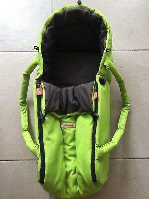 Phil and Teds Cocoon carrycot lime green