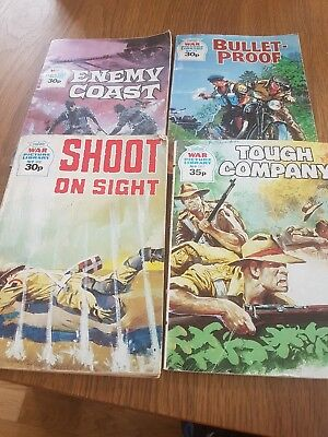 . Four x WAR PICTURE LIBRARY Comics #'s 2096 74 99 161.