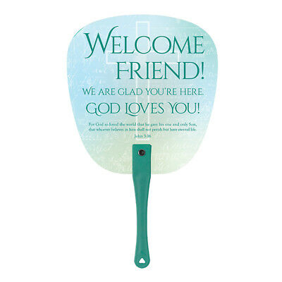 "Our Father Welcome Hand Fan (YS406) 6-3/4 x 11-1/4"" High Lord's Prayer"