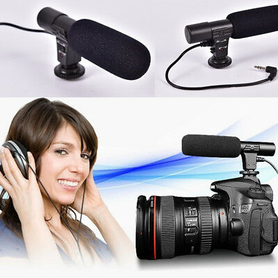 Studio Digital Video DV Stereo Recording Microphones 3.5mm for DSLR Camera GS