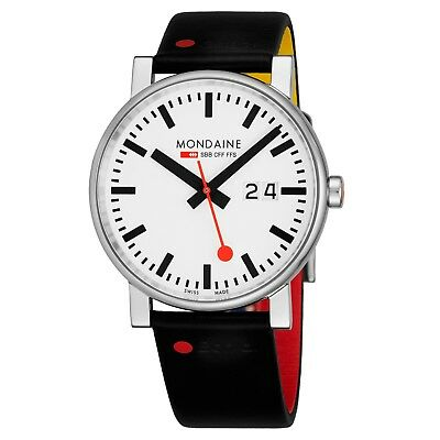 Mondaine Men's Gottardo Nord Sud Leather Strap Quartz Date Watch A62730303GOTSET