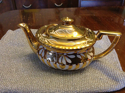 Gold And White Teapot From Englandheorgian Gibsons England 545M
