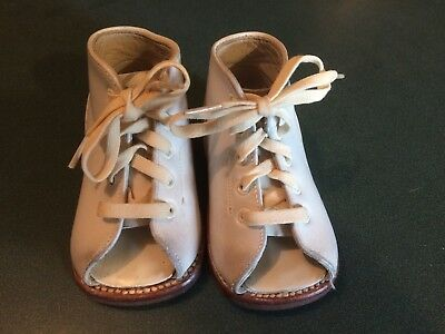 Vintage Pair Sabel's Baby Toddler Shoes Orthopedic Corrective White Leather