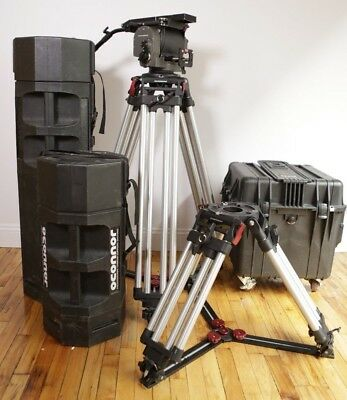 OConnor Ultimate 2575C Cine Head & Tripod Package; Includes Baby Legs and Cases