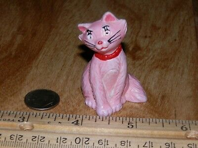 Vintage 1982 Disney Aristocats DUCHESS Pink Cat * Bully W. Germany PVC Figurine