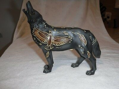 Call of the Wolf Soaring Eagle Wolf Figurine