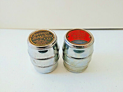 #1404 - Barrel Coin Banks. Wheeling WV and Martins Ferry OH
