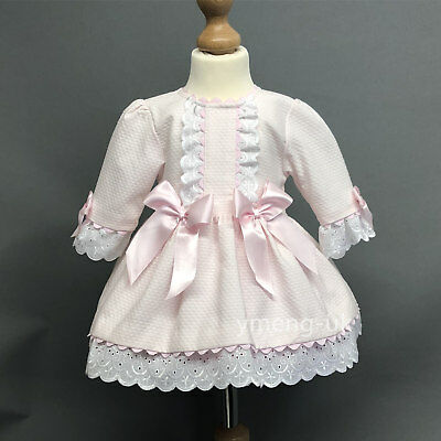 *SALE* Stunning Baby Girl Pink Spanish Princess Half Sleeve Dress Romany