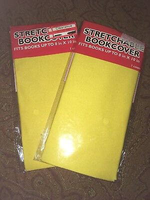 2pk Yellow Stetchable Book Cover Fits Up To 8x10
