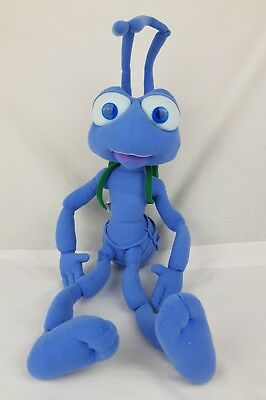 "Disney pixar Bugs Life Fin large 22"" plush soft Intrative toy laughs shakes GC"