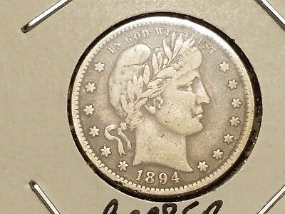 1894 Barber Quarter In Vf Condition By 1Tb