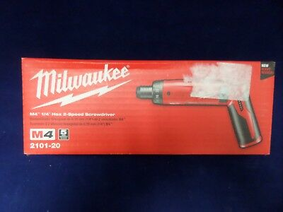 "Milwaukee M4 1/4"" Hex 2-speed Screwdriver (Bare Tool) 2101-20 New"
