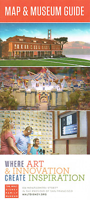 Walt Disney Family Museum Map and Museum Guide Disney NEW WDFM San Francisco