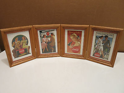 MATTED & FRAMED COCA-COLA  BLONDE With Glove, BICYCLE Advertising -OTHERS SEE!