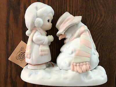 Precious Moments Were Going to Miss You Snowman Melting 524913 Original 1990