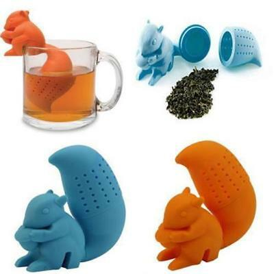 Silicone Squirrel Tea Leaf Strainer Infuser Herbal Spice Filter Diffuser G