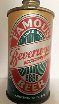Beverwyck Beer Lo Profle cone top can Albany NY from the mid 1930's IRTP