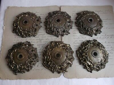 French 6 ornate bronze canopy for part of chandelier classic patterned