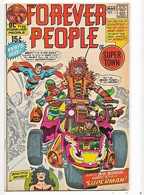 Issue #1 Mar 1971 The Forever People of Super Town by Jack Kirby on DC Comics!