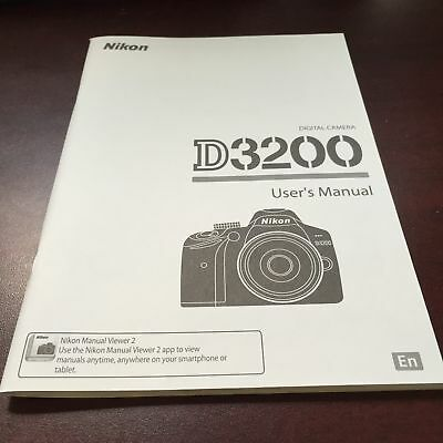 Nikon D3200 Digital Camera User's Manual Guide Book Brand New. Never Used