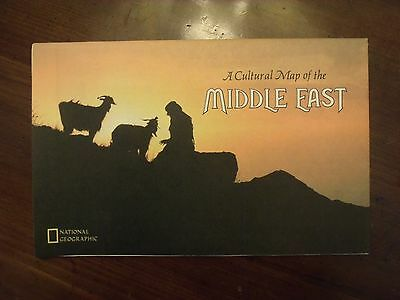National Geographic Cultural Map of The Middle East July 1972