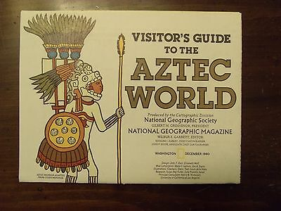National Geographic Map Visitor's Guide To The Aztec World December 1980