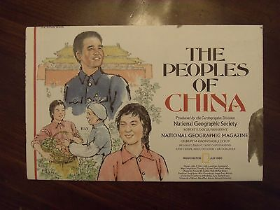 National Geographic Map The Peoples Of China July 1980