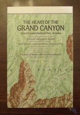 National Geographic Map The Heart Of The Grand Canyon National Park July 1978