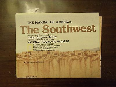 National Geographic Map The Making Of America The Southwest November 1982