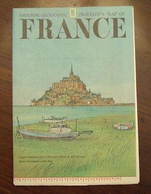 National Geographic A Traveler's Map Of France June 1971