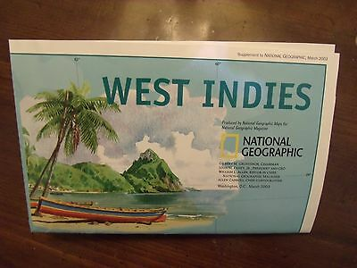 National Geographic A Traveler's Map Of The West Indies March 2003