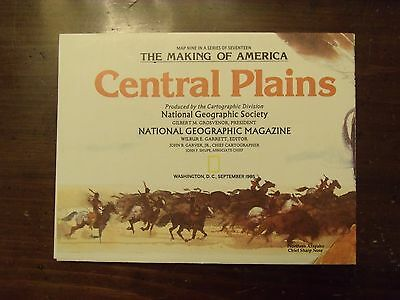 National Geographic Map The Making Of America Central Plains September 1985