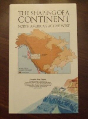 National Geographic MAP Shaping Of A Continent North America's Active West 1985