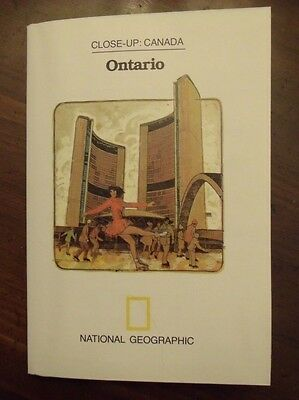 National Geographic MAP Close-Up Canada Ontario 1978