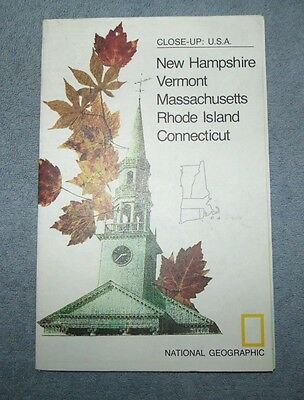 National Geographic MAP Close Up #12 North Eastern States USA 1975