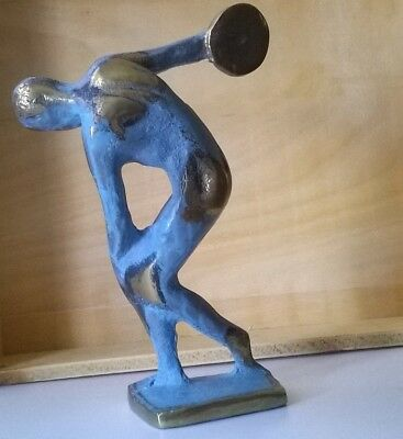 Ancient Greek Bronze Museum Statue Replica of Myron Olympics Discus Thrower
