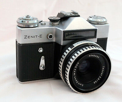 Zenit-E Camera With Carl Zeiss Jana 50Mm F2.8 Tessar Lens.