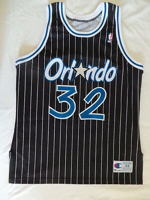 0e39e3ae Champion Shaq Shaquille O'Neal Authentic Orlando Magic jersey 44 signed  vintage