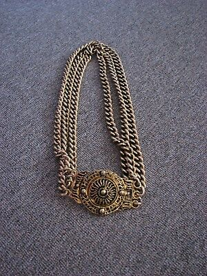 Vintage/Retro >  Gold Toned Chunky Chain Belt VGC